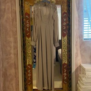 Bedazzled long sleeve maxi